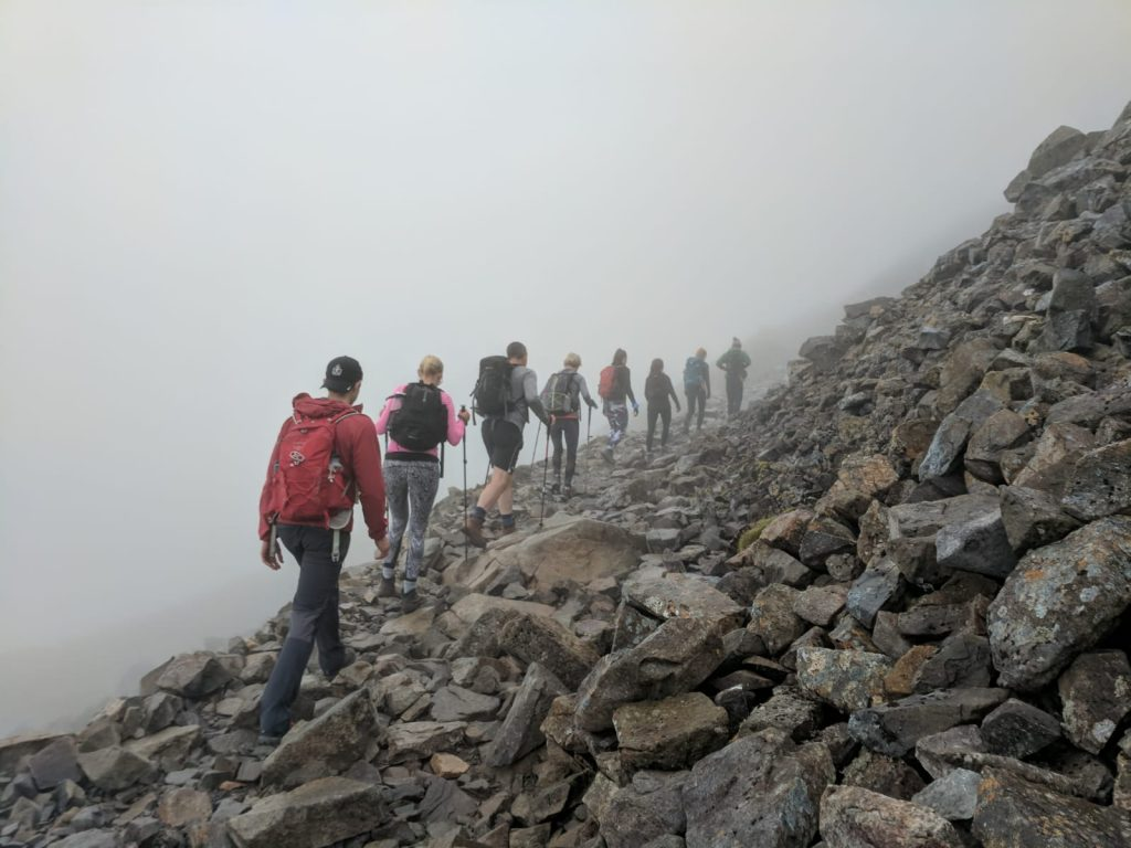 Cloudy hike up Ben Nevis