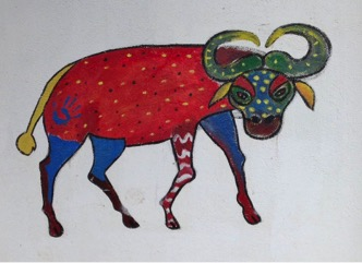 Mumbo the Buffalo,  an animal on the wall of NCLC, who paints his own animal in order to have a new
